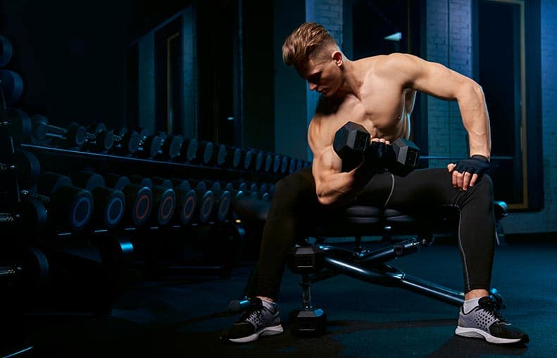 Parallelo Health - your source for health, workouts, food, supplements and more - blog - Best 5 Exercises for Bigger Biceps at Home - concentration curls